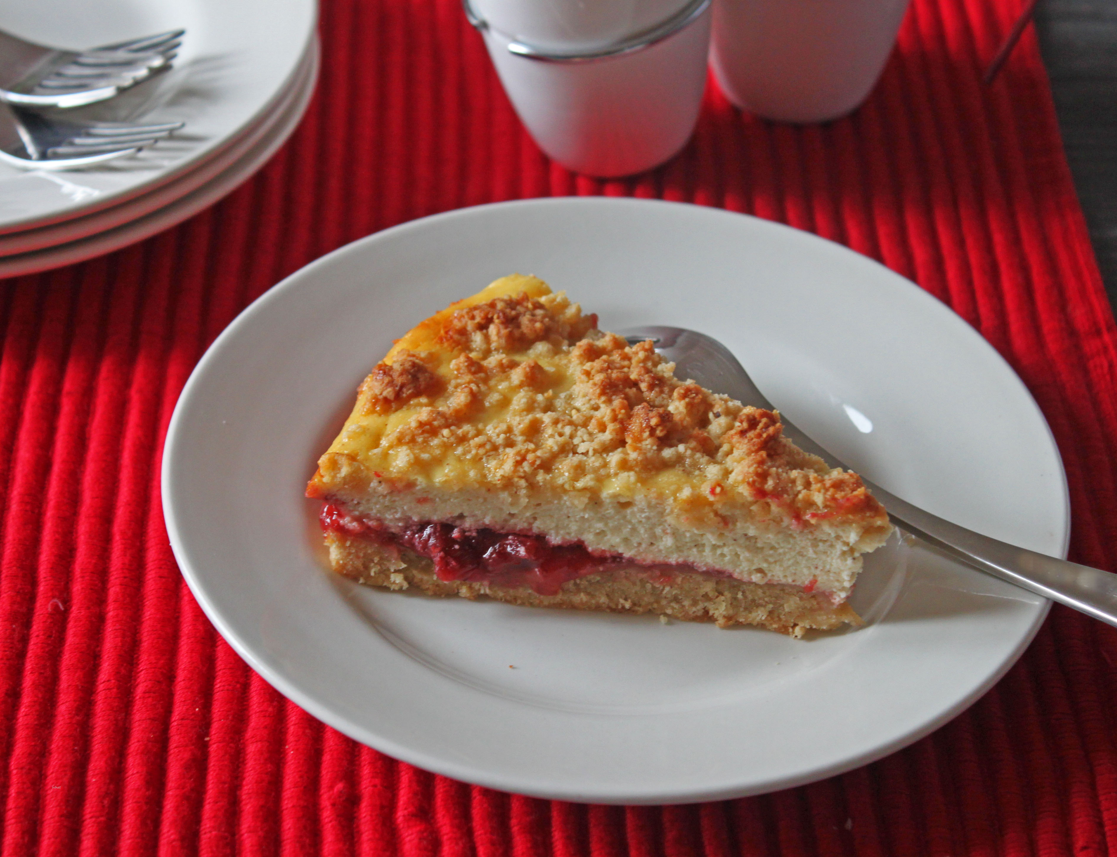Strawberry Ricotta Streusel Tart | What She's Having