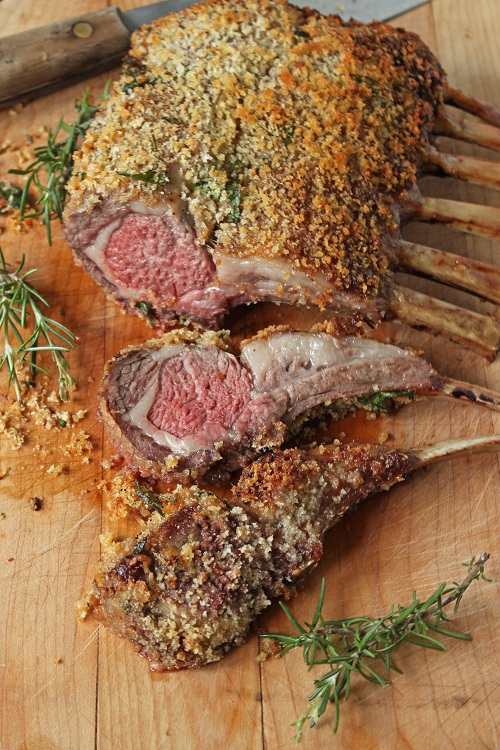 rosemary crusted rack of