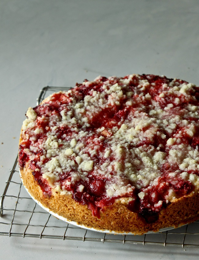 Strawberry Rhubarb Cake | What She's Having